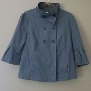 OLD NAVY Gray 3/4 Bell Sleeve Pea Coat